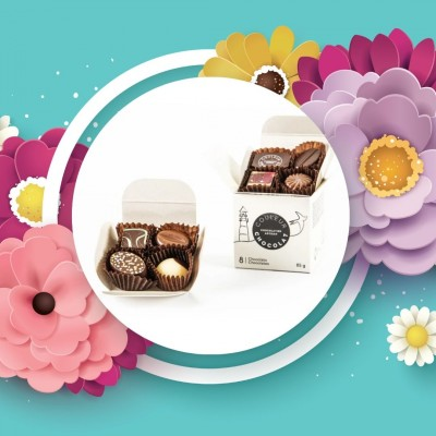 ASSORTED CHOCOLATE BITES - 8 pieces - Couleur Chocolat