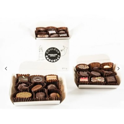 ASSORTED CHOCOLATE BITES - 18 pieces - Couleur Chocolat