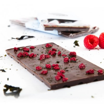 BAR - RASPBERRY AND NORI SEAWEED - DARK CHOCOLATE - Couleur Chocolat