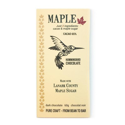 MAPLE 65% - HUMMINGBIRD chocolate