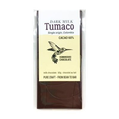 TUMACO 60% -  Dark Milk - HUMMINGBIRD chocolate