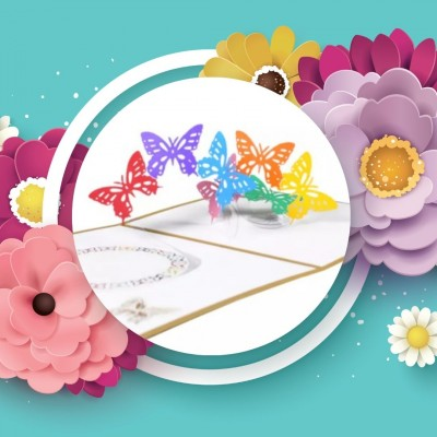 Greeting Card - BUTTERFLY - POP UP 3D
