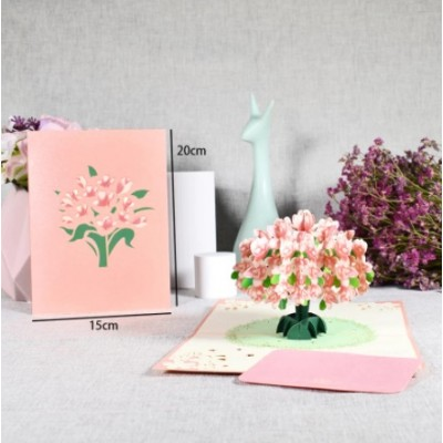 Greeting Card - CHERRY BLOSSOM - POP UP 3D