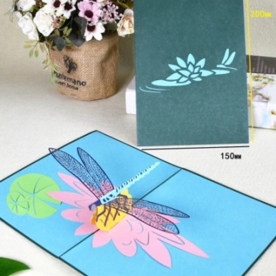 Greeting Card - DRAGONFLY - POP UP 3D