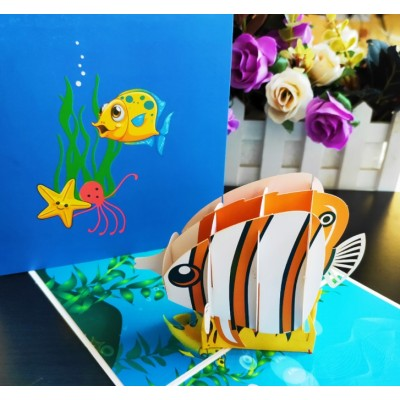 Greeting Card - FISH - POP UP 3D