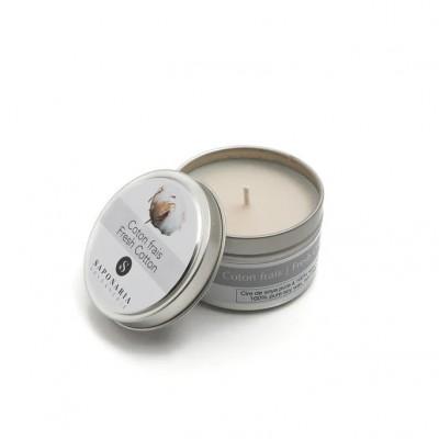 Soy Candle - FRESH COTTON - Saponaria