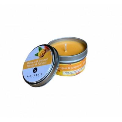 Soy Candle - MANGO and PAPAYA - Saponaria